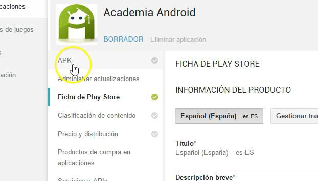 APK: Ficha De Play Store