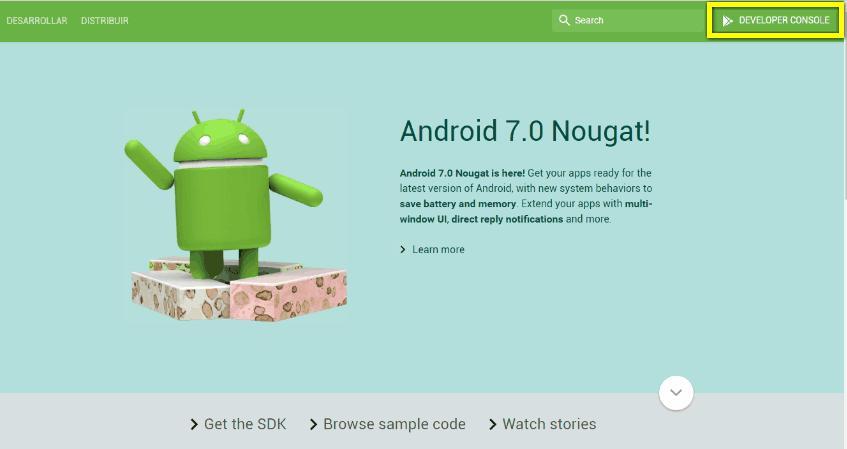 Consola desarrollador Android