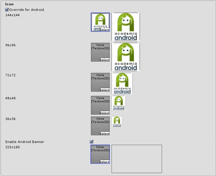 Selección de icono para launcher del juego